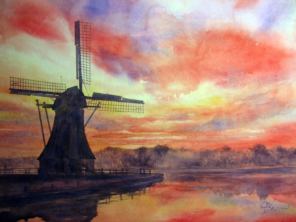 I paesaggi degli acquerelli di Giampiero Pierini, Benelux