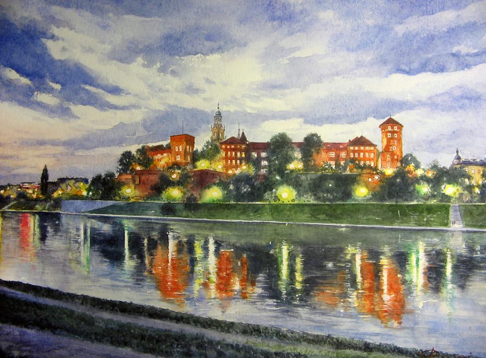 I paesaggi degli acquerelli di Giampiero Pierini, Cracovia