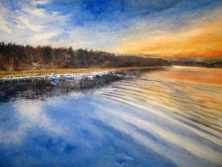 I paesaggi degli acquerelli di Giampiero Pierini, in Finlandia
