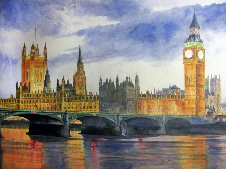 I paesaggi degli acquerelli di Giampiero Pierini, Londra